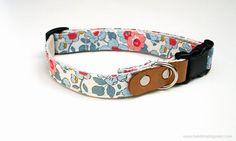 Betsy Ann. Liberty of London Dog Collar. Hemp Collar. Small-Medium-Large.