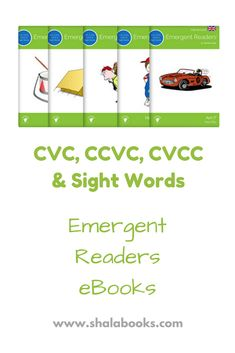 FREE CVC, CCVC, CVCC & Sight Words eBooks - These Audio eBooks combine CVC, Plural CVC, CCVC and CVCC words with sight words, so that young readers can practice reading everything they have learned in our Emergent Readers progression of eBooks. Your children can practice reading two word eBooks and then progress to whole sentences. Visit our site today! #cvcwords #ccvcwords #cvccwords #sightwords