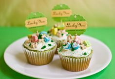 Easy for St. Pat's day...will just use the St. Pat's punches and stamps I have for the toppers!