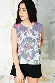 Smithson Acid Tiger Sublimation Vest - Urban Outfitters