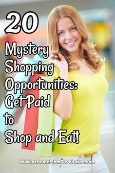 Mystery shopping can be a fun way to bring in a little extra money. While it won't make you rich, it can provide you with some much needed gas money. This is an awesome home-based job opportunity that's often overlooked! You can work from home base and make extra money for your family!