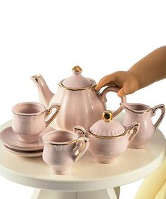 Loving this Princess Pink Fine China Tea Set for 18'' Doll on #zulily! #zulilyfinds