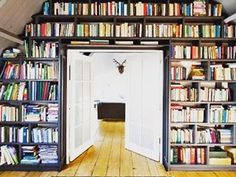 This stunning floor-to-ceiling collection. | 26 Bookshelves That Will Give You Serious Goals
