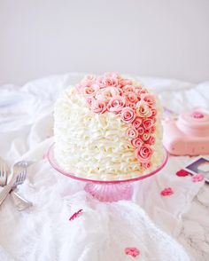 Princess Layer Cake - White Cake with Almond, Apricot, and Mascarpone Buttercream