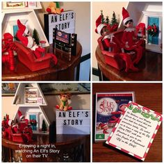 10th December 2016 - Jingles & Peppermint are relaxing watching An Elf's Story on their TV. They even left a copy of the DVD to give to my Grandchildren, thanks elves! #elfontheshelfaustralia #elfontheshelf #elfontheshelf2016 #scoutelfideas
