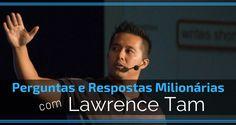"""Estamos entusiasmados em te trazer uma pequena sessão """"atrás do milionário"""" com, nada mais nada menos do que, o Lawrence Tam!Qual legado queres deixar escrito ..."""