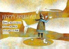 BIRTHDAY CARDS Assorted set of 6...by Pamela by PamelaZagarenski