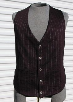 The Alchemist's Steampunk Vest Purple and Silver. $78.00, via Etsy.