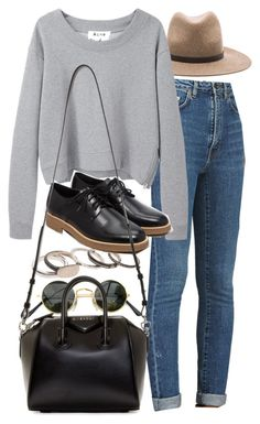 """""""Untitled #7234"""" by nikka-phillips ❤ liked on Polyvore featuring rag & bone, Werkstatt:München, Yves Saint Laurent, Acne Studios, Forever 21 and Givenchy"""