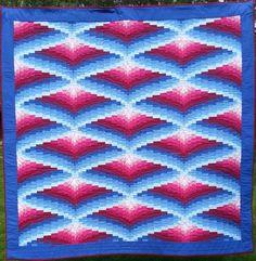 """""""Po jasnej stronie mocy""""- tkanina artystyczna (quilt) wykonana techniką bargello może być twoja. – Stowarzyszenie Polskiego Patchworku"""