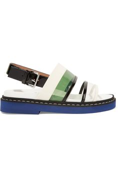 PVC-paneled patent-leather sandals | Marni | 60% off | US | THE OUTNET