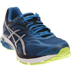 ASICS Men's Gel-Flux 4 Running Shoe, Thunder Blue/Silver/Black, 10 M US. Rearfoot and Forefoot GEL Cushioning Systems: Attenuates shock during impact and toe-off phases, and allows movement in multiple planes as the foot transitions through the gait cycle. SpEVA Midsole Material: Improves bounce back characteristics and decreases midsole breakdown. Guidance Line Midsole Technology: Vertical flex groove decouples the tooling along the line of progression for enhanced gait efficiency....