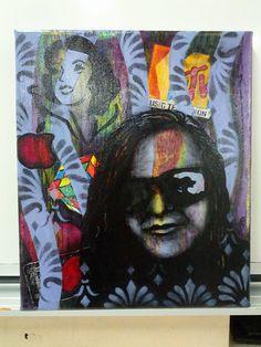 Pop Art inspired portrait - yr 10 Art