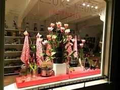 Spring Window display for De Leuke Keuken Edam the Netherlands by Man-Made Design Amsterdam.