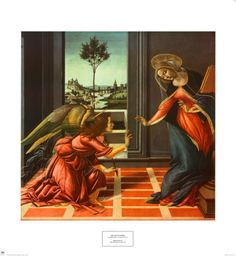 The Annunciation, Sandro Botticelli Detail . The Annunciation, also known as the Cestello Annunciation, is a tempera painting by the Italian Renaissance master Sandro Botticelli, circa. Sandro, Renaissance Kunst, Renaissance Paintings, High Renaissance, Renaissance Artists, Galerie Des Offices, Art Carte, Angels Among Us, Italian Painters
