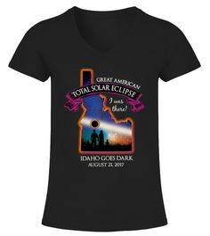 """# Idaho Total Solar Eclipse 2017 Tee Shirt .    The solar eclipse of 2017 is happening in America. Get this beautiful graphic tshirt showing ths moon covering the sun, with """"Eclipse 2017"""" overlayed. This is the ideal gift for astronomers or any one who is going to see the totality of the solar eclipse. The path of the total solar eclipse crosses the United States of America on 21 August 2017, make sure you grab this tee to celebrate this magnificent event. Be the envy of your friends with…"""