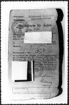 Przemysl, Germany, A work certificate for Jews.