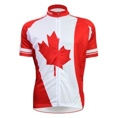 cycling jerseys New Canadian Maple Leaf Alien SportsWear Mens Cycling Jersey Cycling Clothing Bike Shirt Size 2XS TO 5XL