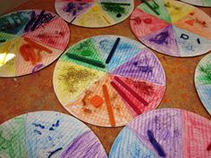 Delicious Color Wheel Pizza, Art Lessons For Kids, wouldn't this be fun to do with acrylic paint. or just messy :) Color Art Lessons, Visual Art Lessons, Art Education Lessons, Art Lessons For Kids, Art Lessons Elementary, Art For Kids, Visual Arts, Color Wheel Art, 2nd Grade Art