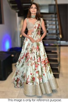 Floral Lehenga Inspirations for Every Bride-to-Be! Indian Lehenga, Indian Gowns, Indian Attire, Indian Party Wear, Indian Wedding Outfits, Indian Outfits, Indian Clothes, Indian Wear, Floral Lehenga