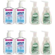 Purell & Gojo Hand Sanitizer & Cleanser Kit, 8 pc