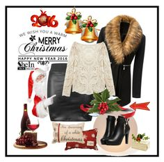 """""""We wish you a warm Merry Christmas and Happy New Year ::)"""" by red-rose-girl ❤ liked on Polyvore featuring moda, Mitchell Gold + Bob Williams e Primitives By Kathy"""