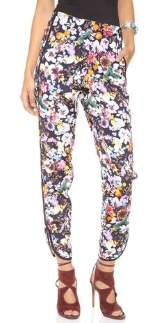 Charles Henry tuxedo stripe floral pant Tuxedo Stripe Pants, Modern Tuxedo, Cool Style, My Style, Embellished Jeans, Floral Pants, Floral Stripe, Printed Pants, Fashion Lookbook