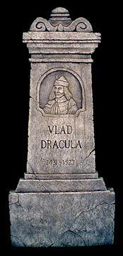 "Tombstone of Vlad #Dracula (Romanian: Vlad Țepeș ""Vlad the Impaler,"" 1431–1476/77)."
