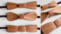 wooden bow tie for wedding