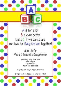 Fisher price alphabet baby shower invitations 899 diseo baby shower abc blocks invitations 899 filmwisefo