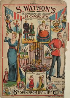 victorian circus | freak show Highlights from the Victorian circus freak show (posters)