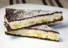 Kokosovo - banánova torta bez cukru a pečenia, recepty Dairy Free Recipes, Raw Food Recipes, Sweet Recipes, Cookie Recipes, Dessert Recipes, Healthy Cake, Healthy Sweets, Healthy Baking, Fitness Cake