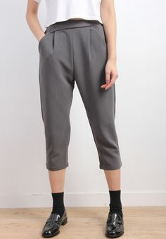 Retro Style Tapered Trousers-BOTTOMS-Drive Store