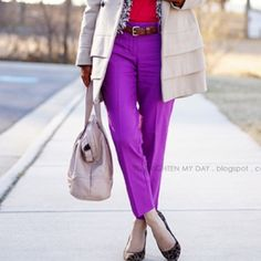 """J.Crew City Fit Purple Skimmer Pants Striking skimmer pants from J.Crew Factory. The pants sit just below the waist and are fitted through the hip. Great way to incorporate color throughout the winter months. The inseam measures 27"""". J.Crew Factory Pants Ankle & Cropped"""