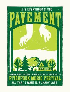 Pavement poster from Pitchfork 2010