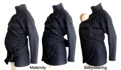 Maternity. Babywearing Jacket, Vegan Coat Jacket. Baby Wearing Baby Wearing Jacket, Baby Clothes. Sling Coat. Carry, Baby Carrier, Wrap Coat This is a liquidation sale of a small part of our stock. The reason -🔴 unlike our NO-PILL Blizzard Fleece - this fleece WILL pill creating a