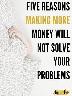 If you've ever wished to be rich or just to have some more money in the bank you should read this first. Contrary to popular belief having more money will not solve your problems. Don't believe me? Click through to read my thoughts and hear some staggering statistics!