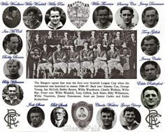 Rangers, First Ever Winner's of The Scottish League Cup Rangers Team, Rangers Football, George Young, Grace Slick, Back Row, Retro Football, Team Photos, Uefa Champions League, Glasgow