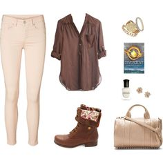 A fashion look from August 2014 featuring PAM tunics, Vero Moda pants and Charlotte Russe ankle booties. Browse and shop related looks.
