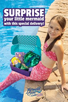 Our best selling subscription box Mermaid Cove Crate now has a special version JUST for kids! A mermaid subscription box for kids ages 5 to 8 ! This is the perfect gift for the little mermaid on your list! Mermaid Purse, Mermaid Outfit, Mermaid Jewelry, Mermaid Kids, Mermaid Cove, The Little Mermaid, Mermaid Cosplay, Mermaid Costumes, Mermaid Leggings