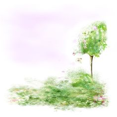 Spring Garden ❤ liked on Polyvore featuring backgrounds, trees, flowers, tubes and effects