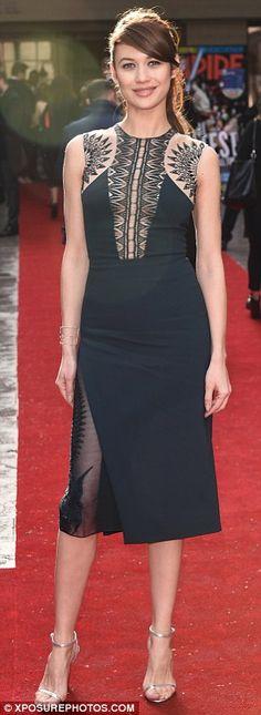 Sheer delight: Olga Kurylenko turned heads in a semi-sheer dress as she arrived at the Jam...