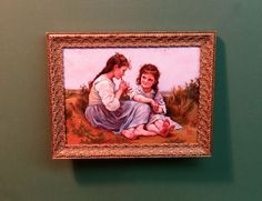 Childhood Idyll after Bougoureau. By ED CHOL. Miniature Painting. Ed is an amazing artist and his work is highly valued and very rare. From Estate. | eBay!