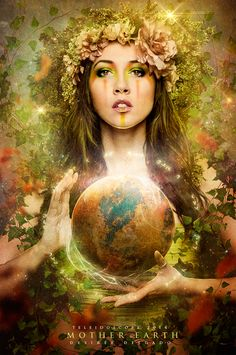 This poster shows how the mother goddess Gaia has created the beautiful Earth through her effects. We are now facing the Agony of Mother Earth. We have destroyed her by destroying Earth. Gaia Goddess, Earth Goddess, Mother Goddess, Mother Nature Costume, Marie Madeleine, Mother Images, Nature Artwork, Sacred Feminine, Gods And Goddesses