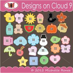 Designs on Cloud 9 Bunch O' Buttons SVG and cutting files