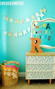 The Big Girl Room via Life as a Thrifter #Bedroom