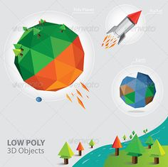 Vector Low Poly 3D Object