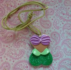 Ariel The LIttle Mermaid Corset Pendant  D019 by artsdaughter