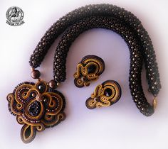 Soutache set in Brown