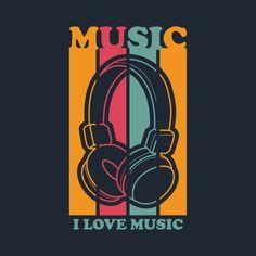 Retro Music Illustration For T Shirt Design Vector and PNG T Shirt Logo Design, T Shirt Design Vector, T Shirt Designs, T Shirt Printing Design, Retro Vector, Vector File, Vector Graphics, Typography Design, Lettering
